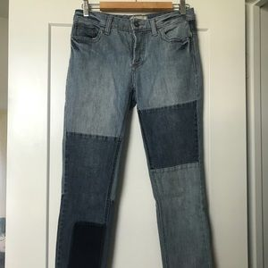 Free People patchwork jeans